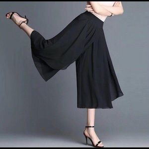 iz Womens solid palazzo trousers summer wide pants